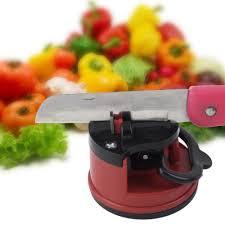 red kitchen knives sharpener promotion shop for promotional red 1pc red knife sharpener scissors grinder secure suction chef pad kitchen sharpening tool plastic sharpener for knives