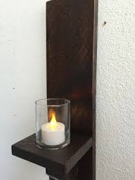 Wall Sconces Candles Holder Buy A Hand Made Rustic Wood Wall Sconces Candle Sconces Wall