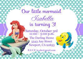 Sample Of Birthday Invitation Card For Kids Birthday Invites Cute Design Little Mermaid Birthday Invitations