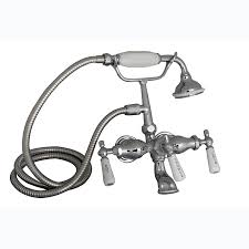 Shower Bath Faucet Shop Barclay Polished Chrome 3 Handle Freestanding Wall Mount