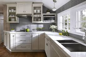 White Kitchen Cabinets And Black Countertops by Gray Cabinets In Kitchen Sleek White Granite Countertop Fancy