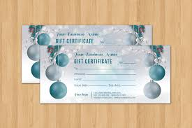 christmas holiday gift certificate template multipurpose