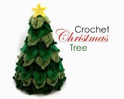 make crochet christmas tree christmas lights decoration