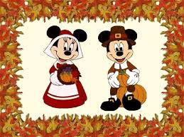 thanksgiving greetings with minnie and mickey mouse puzzles