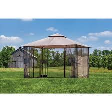 Pergola Mosquito Net by Garden Hampton Bay Gazebo For Inspiring Pergola Design Ideas