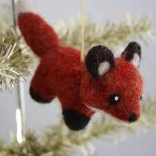use cookie cutters to make these needle felted ornaments