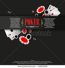 Playing Card Design Template Casino Poster Banner Background Flyer Template Stock Vector