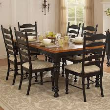two tone dining table