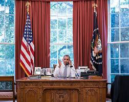 Oval Office Desk President Barack Obama Sitting Desk Oval Office Photo Photograph