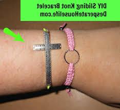 cross knot bracelet images Pretty cross sliding knot bracelet diy thecolorbars jpg