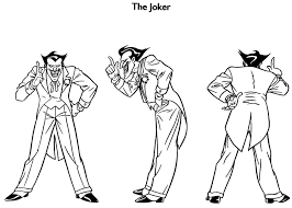 joker modelsheet animated series bruce timm style pinterest