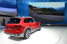 volkswagen tiguan 2016 red volkswagen tiguan gte active concept at 2016 naias photos u0026 videos