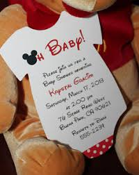 mickey mouse baby shower invitations mickey mouse baby shower invitation all wording customized for