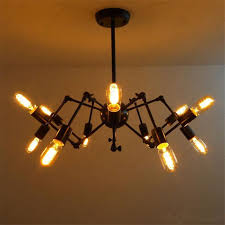 Hanging Bulb Chandelier Discount New Spider Chandelier Vintage Wrought Iron Pendant Lamp