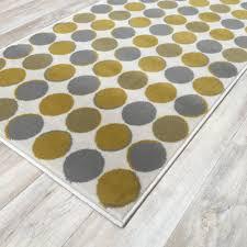 Yellow Circle Rug Grey Yellow Circles Wilton Rug Cheap Rugs Flooring Direct