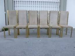 70 S Style Furniture 70s by 6 70 U0027s Italian Brass U0026 Suede Dining Chairs Style Of Romeo Rega