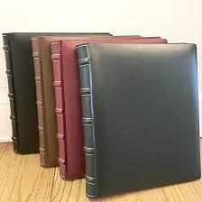 large scrapbook large ribbed spine scrapbook thistles on libbie