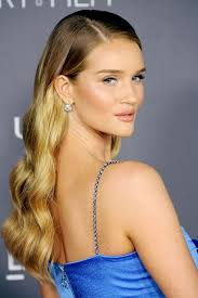 rosie huntington side parted lob a brief history of rosie huntington whiteley s enviable hair