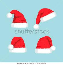vector cartoon christmas santa claus red stock vector 721607248