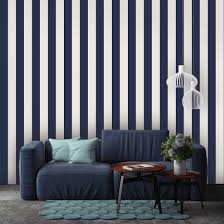 tempaper mini stripes in navy blue self adhesive removable