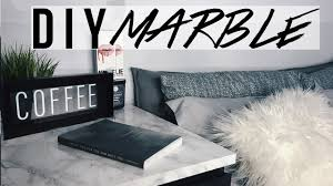 super easy diy marble nightstand anhoppa youtube