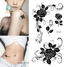 finger tattoo stickers wholesale hc1185 women sexy finger flash fake tattoo stickers black