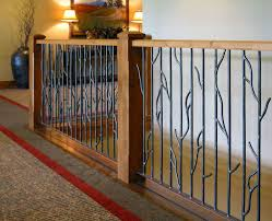 metal landing banister and railing in door railing interior railing designs iron design