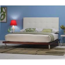 Leather Headboard Platform Bed Delise Platform Bed White Leather Headboard Deliseuw From Charles