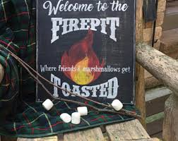 Fire Pit Signs by Firepit Signs Etsy