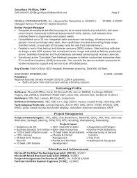 Manager Resume Examples Telecom Project Manager Resume Sample Resume Ideas