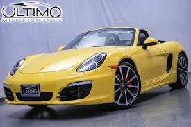 Porsche Boxster Yellow - pre owned 2015 porsche boxster s coupe in warrenville u3360