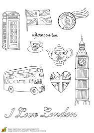 Coloriage de la vie à Londres