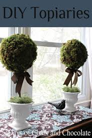 paper mache home decor days of chalk and chocolate diy paper mache topiaries diy home