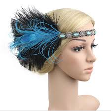 gatsby headband 1920s headband feather 20 s bridal great gatsby flapper gangster