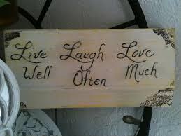 Live Laugh Love Signs Home Decor Junque Rethunk