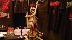 drunk skeleton animatronic halloween prop youtube