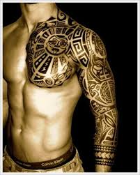 aztec tribal tattoos chest tattooic