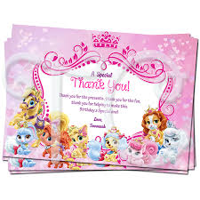 Disney Princess Invitation Cards Princess Palace Pets Birthday Thank You Cards