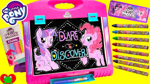 my little pony movie art easel twilight sparkle and pinkie pie