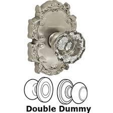 glass crystal door knobs doorknobsonline com offers fusion fus 103811 door knob brushed