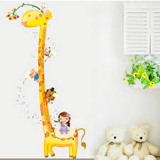 Giraffe Baby Decorations Nursery baby nursery decorative kids growth chart also as wall decor