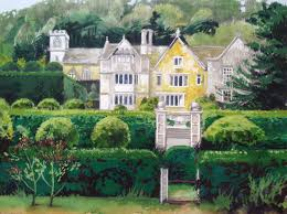 Painting Of House by Painting Of Owlpen Owlpen Manor Tudor Manor House And Cotswold