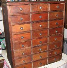 24 Drawer Storage Cabinet by Vintage Machinist Watchmaker Tool Box Chest 3 Drawer 14