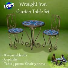 Metal Garden Chairs And Table Second Life Marketplace Lok U0027s Wrought Iron Table And Chairs Set