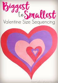 Decoration For Valentines Day by Valentine U0027s Day Heart Size Sequencing Activity From Abcs To Acts