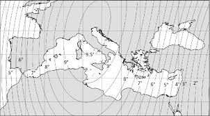 magnetic declination map magnetic declination for the year 1250 calculated from the