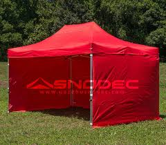 gazebo in alluminio pieghevole gazebo pieghevole 3x4 5 rosso alluminio 40mm con teli laterali