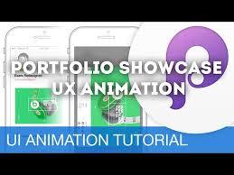 portfolio showcase u2022 ui ux animations with principle u0026 sketch