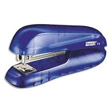 agrafeuse bureau agrafeuse de bureau rapid f6 bleu à demi bande capacité 20