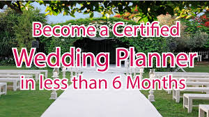 certified wedding planner become a certified wedding planner in less than 6 months